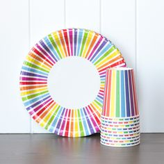 Tableware Set - Rainbow Stripes
