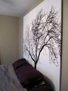 diy artwork; frame a fabric shower curtain? Such a great idea