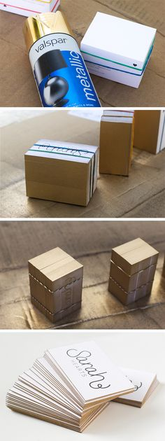 painted-edge business cards