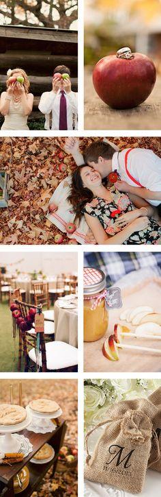 Autumn Apple Fall Wedding Inspiration Board