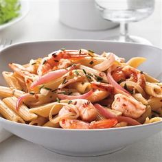 This pasta and shrimp recipe is ready to serve in less than 30 minutes.
