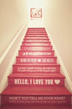 opening ceremony, jim morrison, the doors, basement stairs, stairway, hous, painted stairs, step up, song quotes