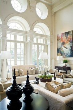 Another view... these windows are fabulous! What a great living room.