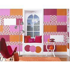WallPops Lots of Dots Dots, Blox and Stripes Decals #walldecals  #wallart  #peelandstick  #WallPops  #wallstickers  #decor  #DIY  #decorating