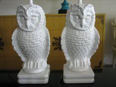 vintage owl lamps... love it!