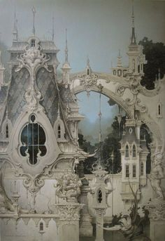 Daniel Merriam~ Built on Dreams Alone sleeping beauty, daniel merriam, palac, castl, dreams, art, fairy tales, fairi, dream houses