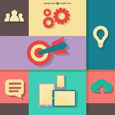 Flat vector illustration web design concept Free Vector