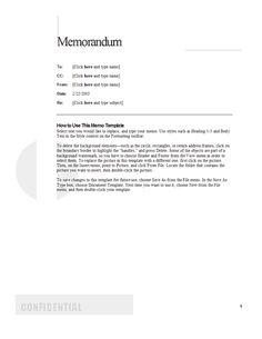management memo template .