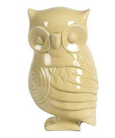 Another great find on #zulily! Yellow Ceramic Owl Garden Figurine #zulilyfinds