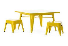 Industry Table Set, Yellow For Kids