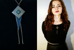 Necklace made from printer parts