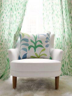 interior design, pillow, chairs, babies nursery, children, lulu dk, curtain fabric, kid room, bright colors