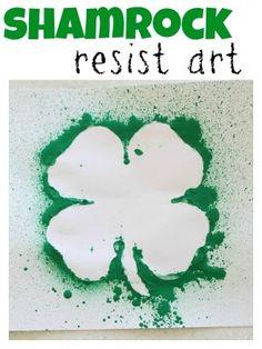 Shamrock Resist Art, from http://www.icanteachmychild.com