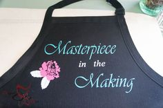 Putting an Artistic Twist on My Painting Apron With a Heat Transfer.