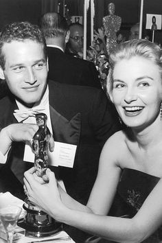 Paul Newman & Joanne Woodward at the 31st Academy Awards, 1958.