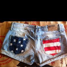 #DIY 4th of July shorts!