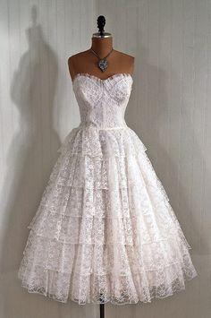1950's lace party dress