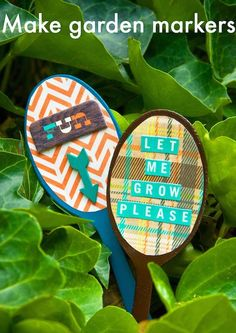 Can you guess what these adorable Garden Markers are made from? Find out!