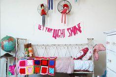 baby girl rooms, room redo, kid rooms, girl bedrooms, bedroom stuff, little girl rooms, wire baskets, light, banner