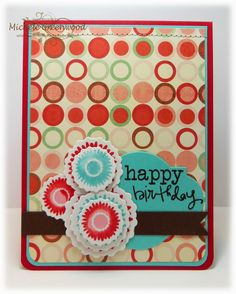 Card by Whimsey using Bloom & Grow from Verve.  #vervestamps