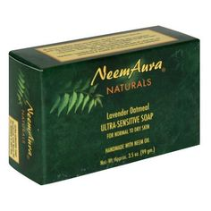 Neem Soap Lavender & Oatmeal - 3.30 oz. - Soap by Neem Aura. $6.75. NEEM AURA NATURALS Ultra-Sensitive Soap Lavender/Oatmeal (Normal to Dry Skin) 1 BAR