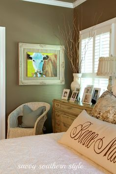adding whimsy in the master at savvysouthernstyle.net
