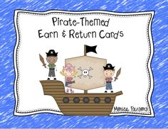 Pirate-Themed Rewards Cards - FREEBIE from NC Teacher Chick