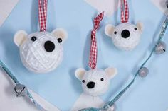 Christmas Crafts: Polar Bear Ornaments