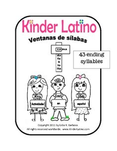 Syllable slides in Spanish for making words. 60 pages. $7