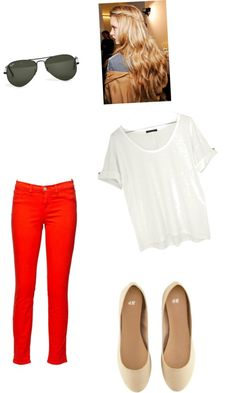 Red Pants, created by jmcgee330 on Polyvore