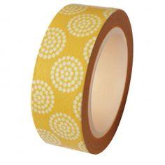 Yellow Floral Circles Washi Tape
