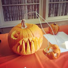 An angler fish from our office pumpkin carving contest. Happy Halloween!