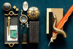 """Snake Gold Collection: From $135 """"Snake and Crocodile are flights of fancy for lovers of faraway places, exotic textures, curious curvatures, and distinctive craftsmanship."""""""