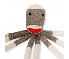 Sock Monkey Dog Toy.