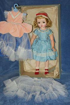 "Vintage 18"" Madame Alexander Binnie Walker In Original Box With Extra Dress"