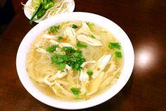 Pho ga from Pho Viet's, a Vietnamese restaurant on Commonwealth Avenue in Allston, MA. (from http://hiddenboston.com/foodphotos/pho-viets-pho-ga.html) #Allston