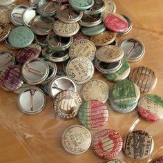 vintage postal buttons