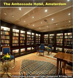 Around the world in 7 impressive HOTEL LIBRARIES.  Escape on an adventure in the world of literature when you stay at a place with a hotel library during your travels.