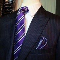 Men-Custom bespoke tailored suit from NELSON WADE made with fabric from John Foster .