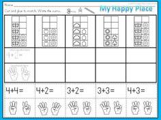 spring ten frame addition activities common core worksheets subitizing kindergarten cut and. Black Bedroom Furniture Sets. Home Design Ideas