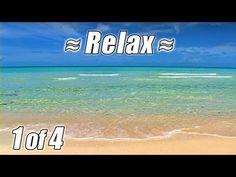 RELAXING VIDEO #1 OCEAN SOUNDS Best Bahamas Beaches Ocean Sound Waves Beach noises relax studying