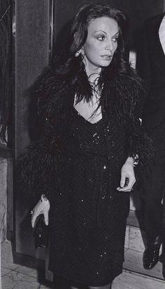 Diane von Furstenberg in vintage DVF. #dvf