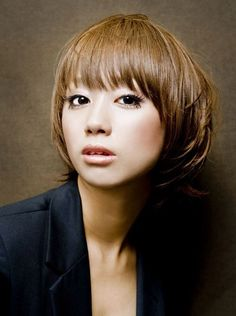 japanes hairstyl, bob, women trendi, color, bang