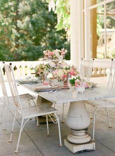 pretty porch table