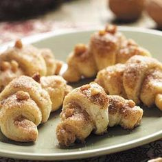 Vanilla Walnut Crescents Recipe from Taste of Home -- shared by Betty Lawton of Pennington, New Jersey