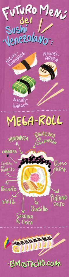 El sushi venezolano, jajaja