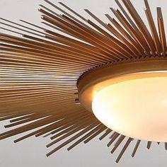 DIY SUNBURST CEILING LIGHT