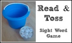 Read & Toss - Sight Word Game.  Active sight word game for your kinesthetic learner.