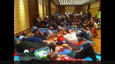 Protestors taking refuge in the Divan Hotel. Police stormed the hotel and fired tear gas into the lobby. June 15, 2013.