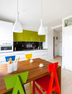 Colorful kitchen, Finnish penthouse